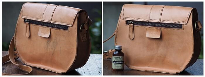 Chamberlain´s LeatherMilk Leather Care Liniment No. 1 - illustrasjon fra rens av skinn