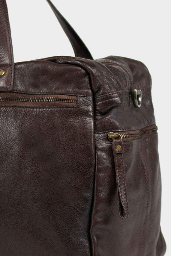 Re-Designed by DIXIE - Signe weekendbag 00145 dark brown mørk brun 3