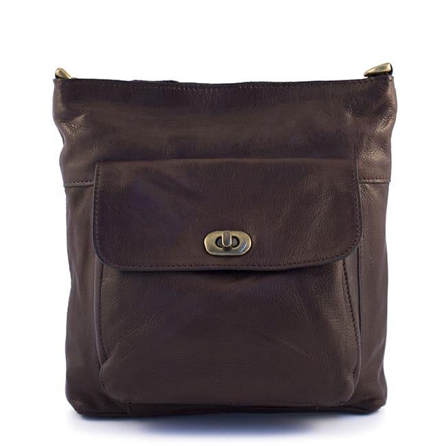 Designed by DIXIE - Kay veske - 01151 - dark brown mørk brun 1 - closeup