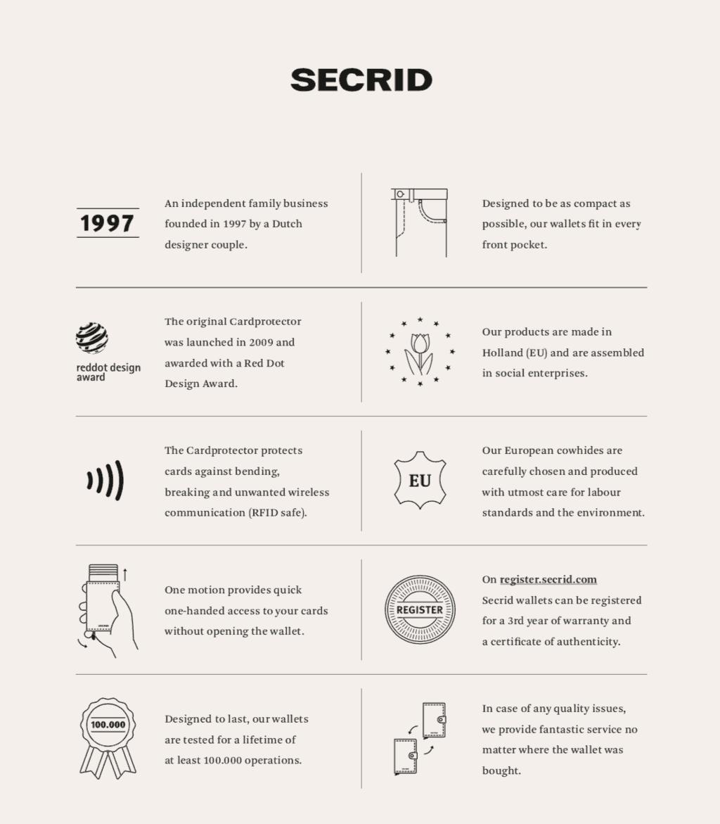 Secrid infoark