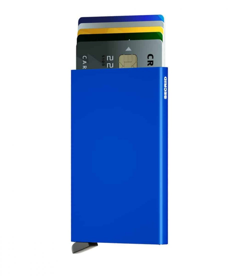 Secrid Cardprotector - blue forside med kort