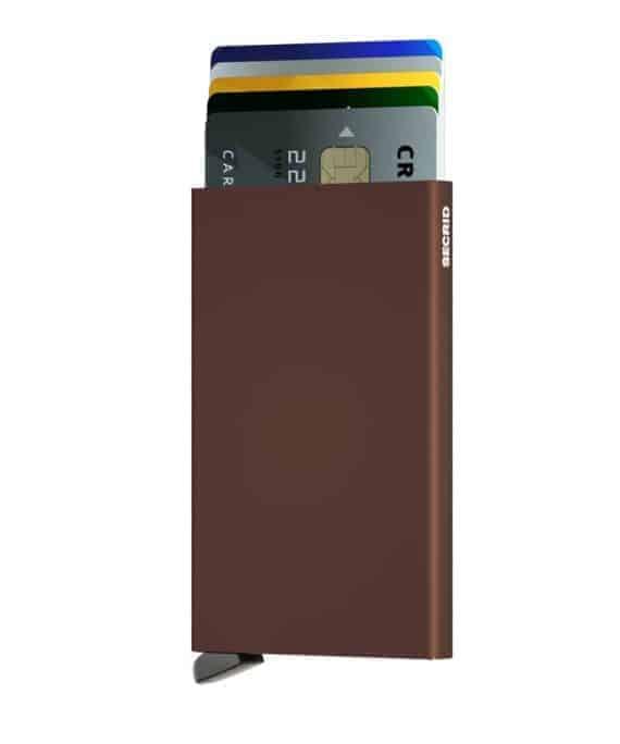 Secrid Cardprotector brun forside med kort