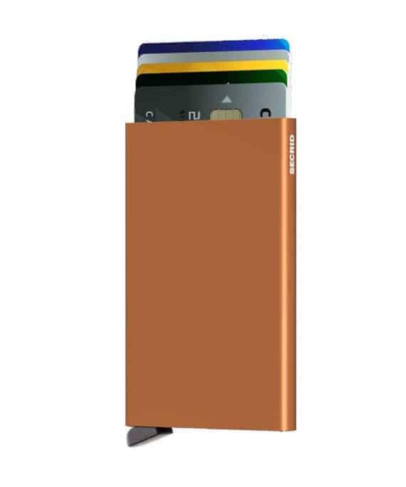 Secrid Cardprotector rust forside med kort