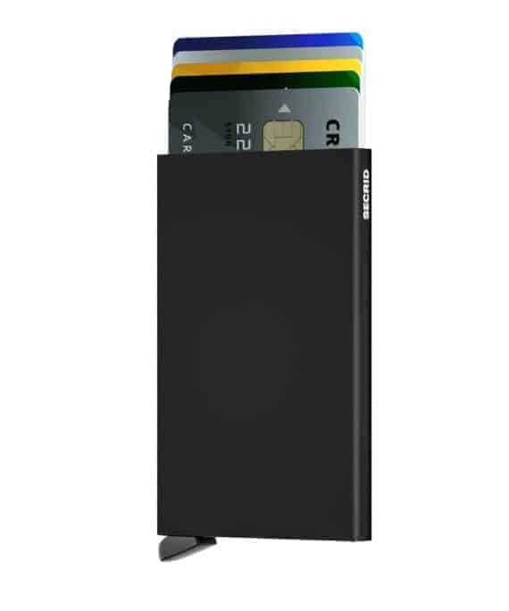 Secrid Cardprotector sort forside med kort