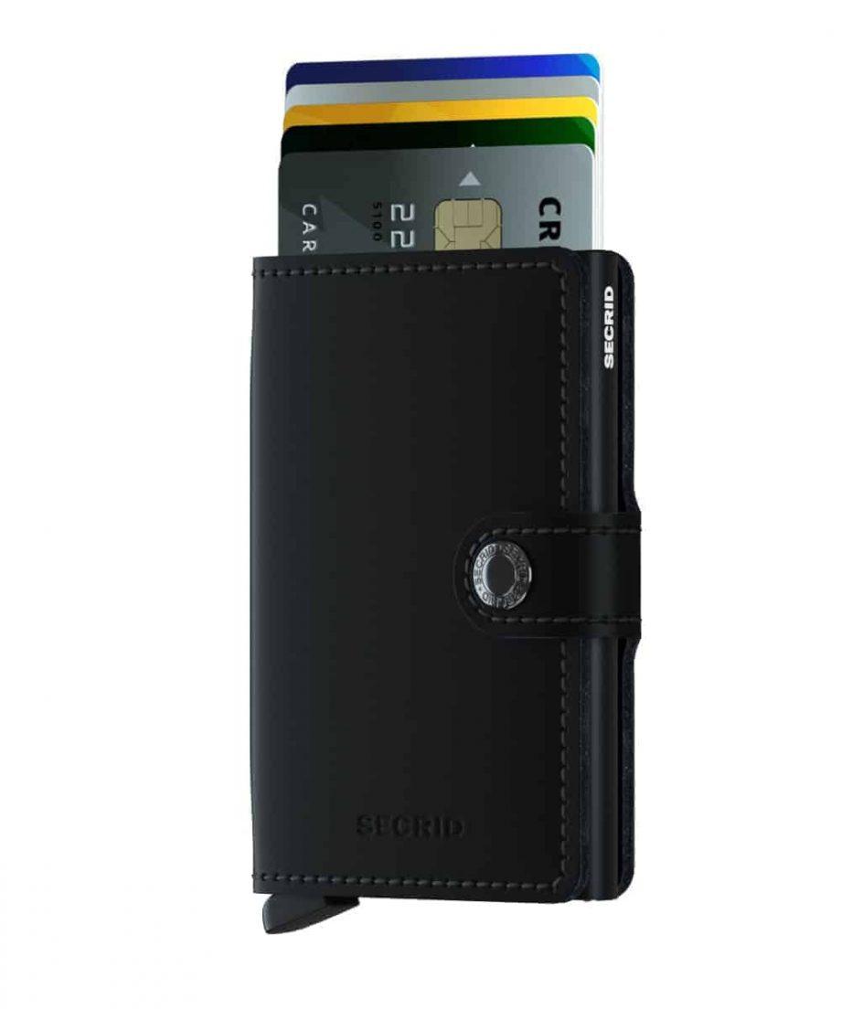 Secrid Miniwallet- matte black forside med kort