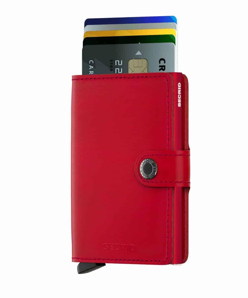 Secrid Miniwallet - red - forside med kort