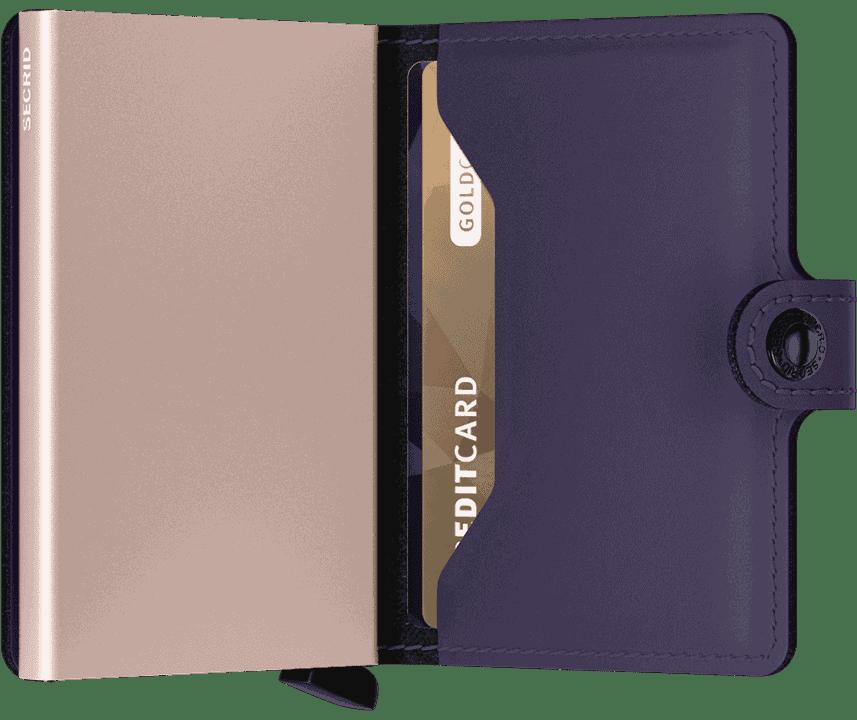 Secrid Miniwallet Matte Purple Rose Innside