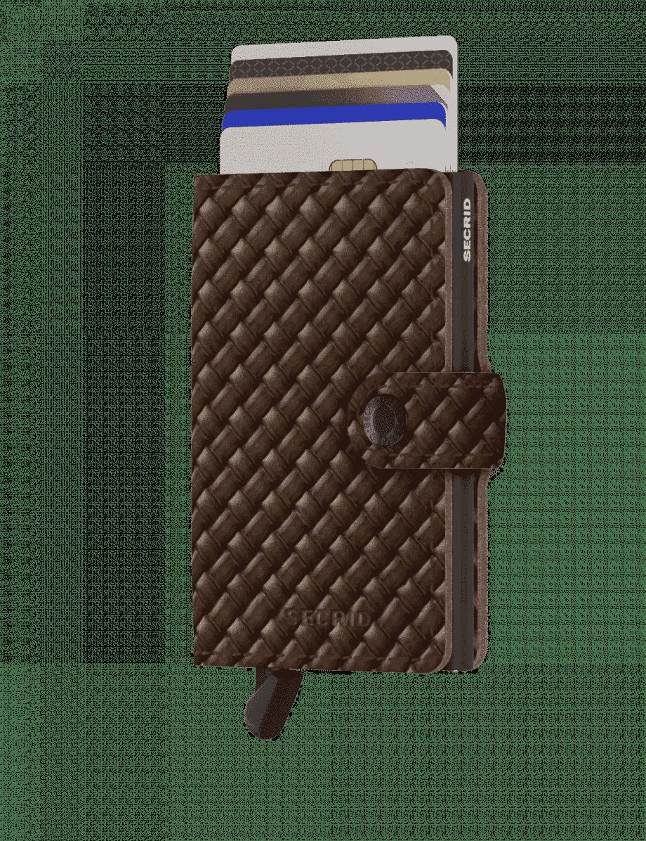 Secrid Miniwallet - basket brown forside med kort