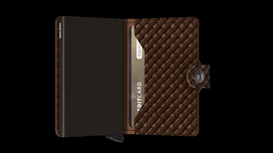 Secrid Miniwallet - basket brown open