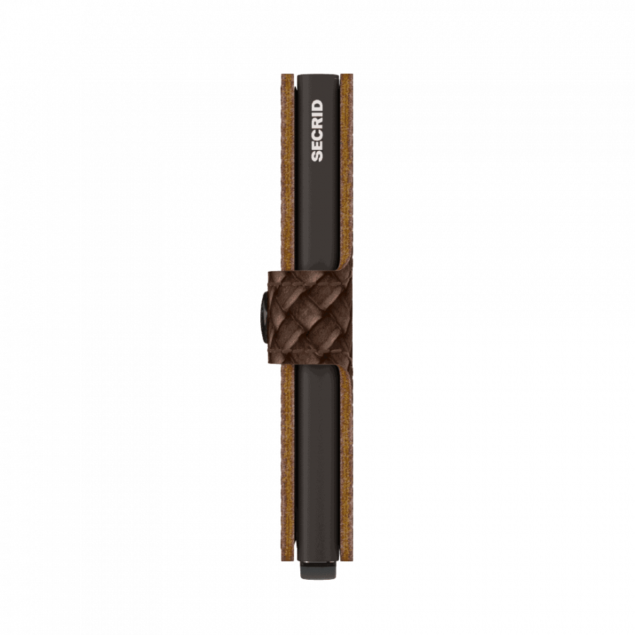 Secrid Miniwallet - basket brown side