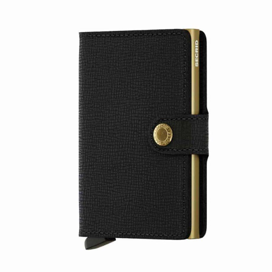 Secrid Miniwallet - crisple black gold forside