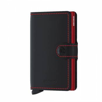 Secrid Miniwallet - matte black red forside
