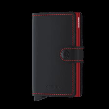 Secrid Miniwallet - matte black red forside