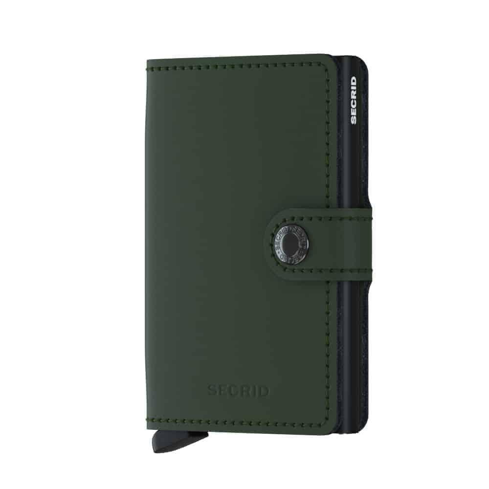 Secrid Miniwallet - matte green black forside