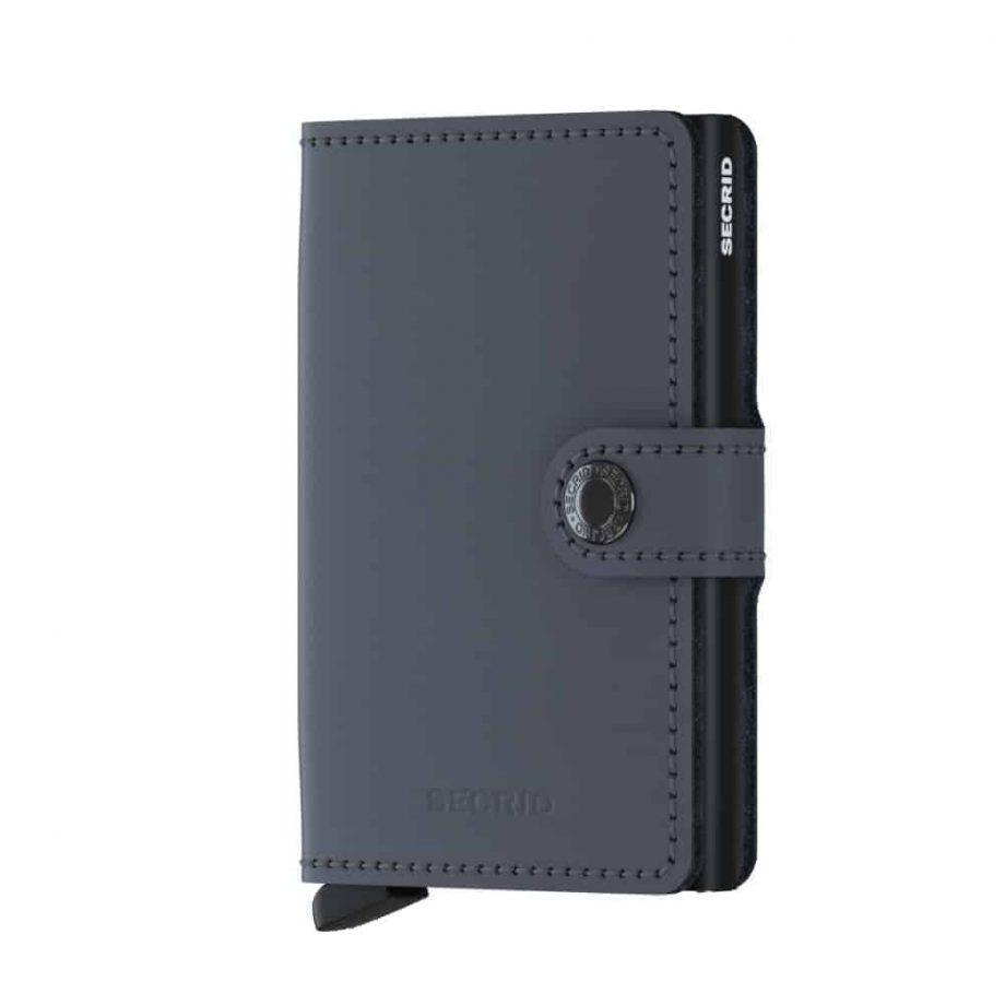 Secrid Miniwallet - matte grey black forside