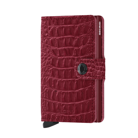 Secrid Miniwallet - nile ruby forside