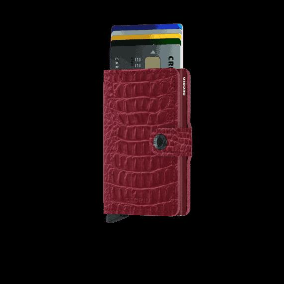 Secrid Miniwallet - nile ruby forside med kort