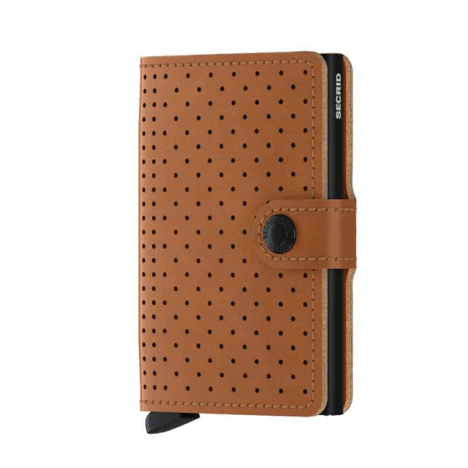 Secrid Miniwallet - perforated cognac forside