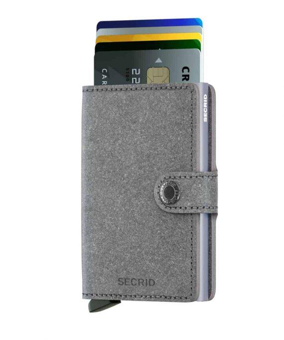 Secrid Miniwallet - recycled stone forside med kort