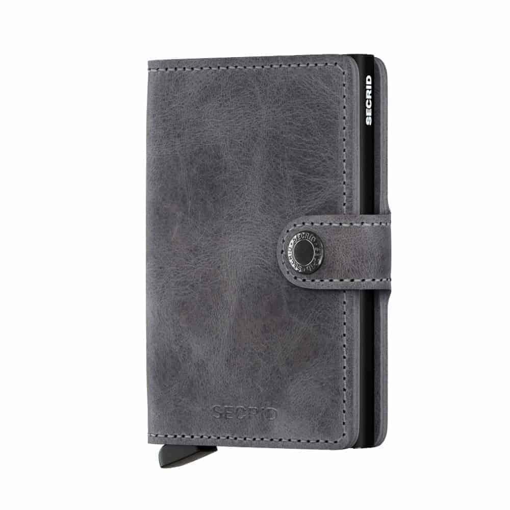 Secrid Miniwallet - vintage grey black forside