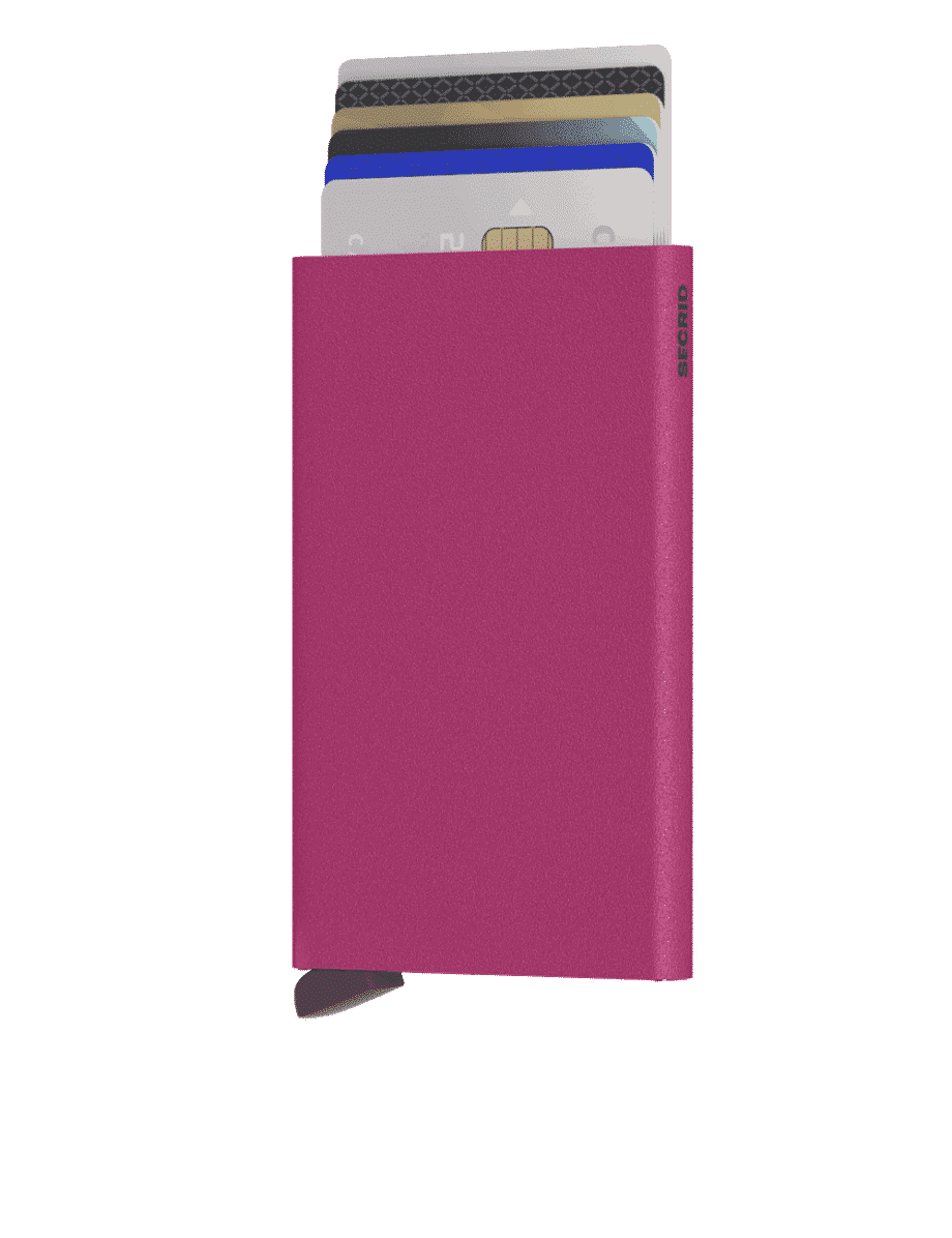 Secrid Cardprotector Powder Fuchsia Forside 2