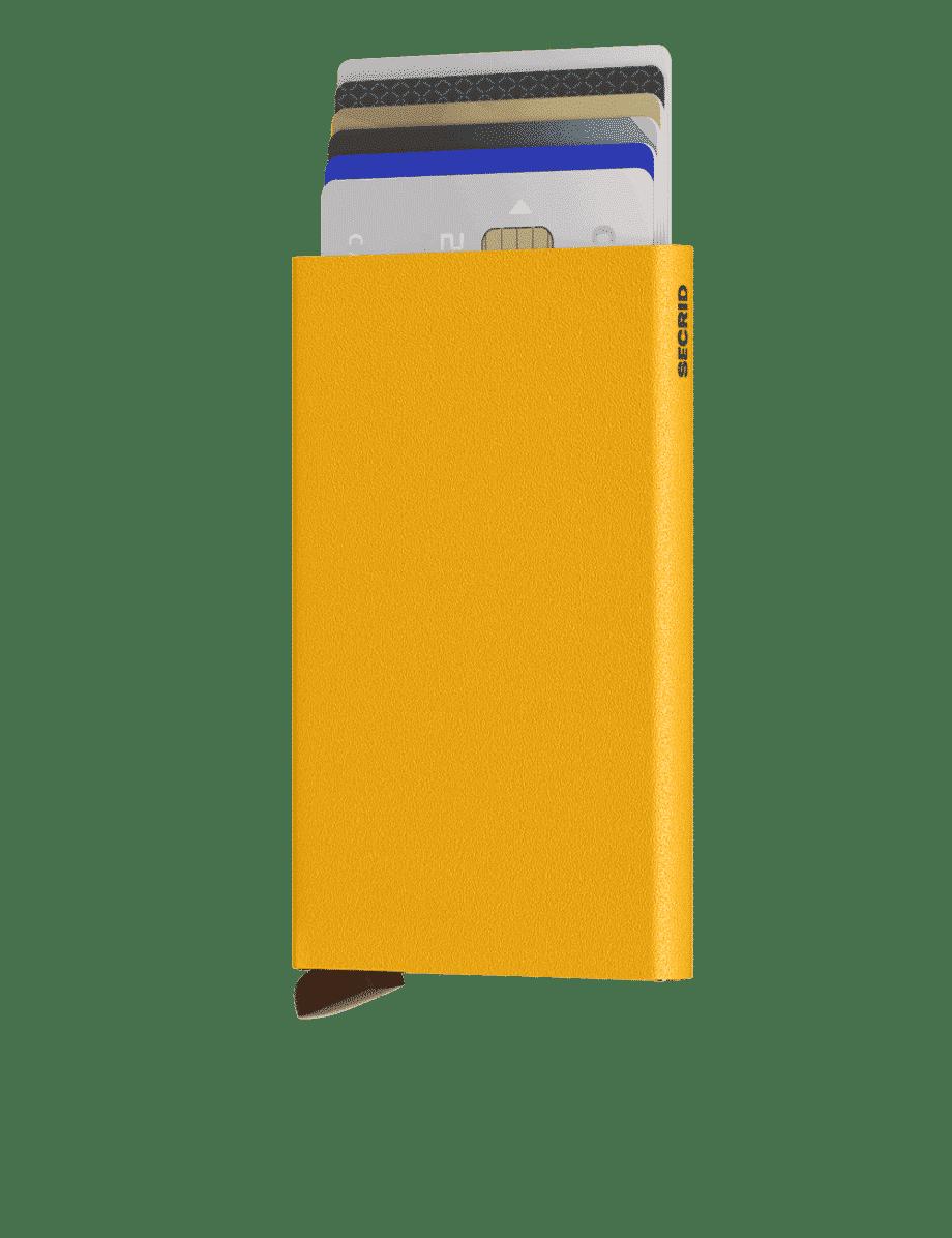 Secrid Cardprotector Powder Ochre Forside 2