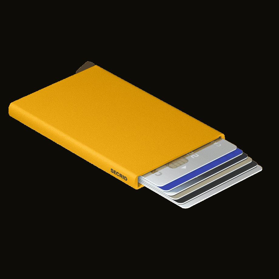 Secrid Cardprotector Powder Ochre Liggende