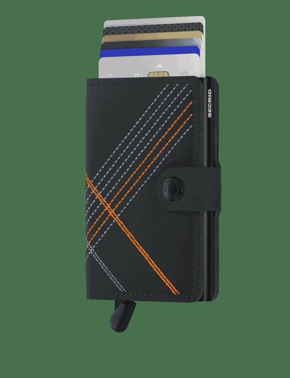 Secrid_Miniwallet_Stitch_Linea_Orange_Front_Cards