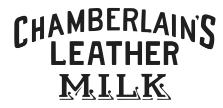 Chamberlains leather milk logo sort