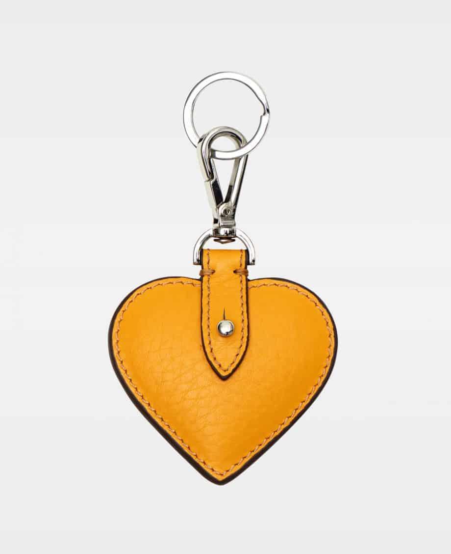 DE118 Decadent Heart Keyring Golden Yellow Forside