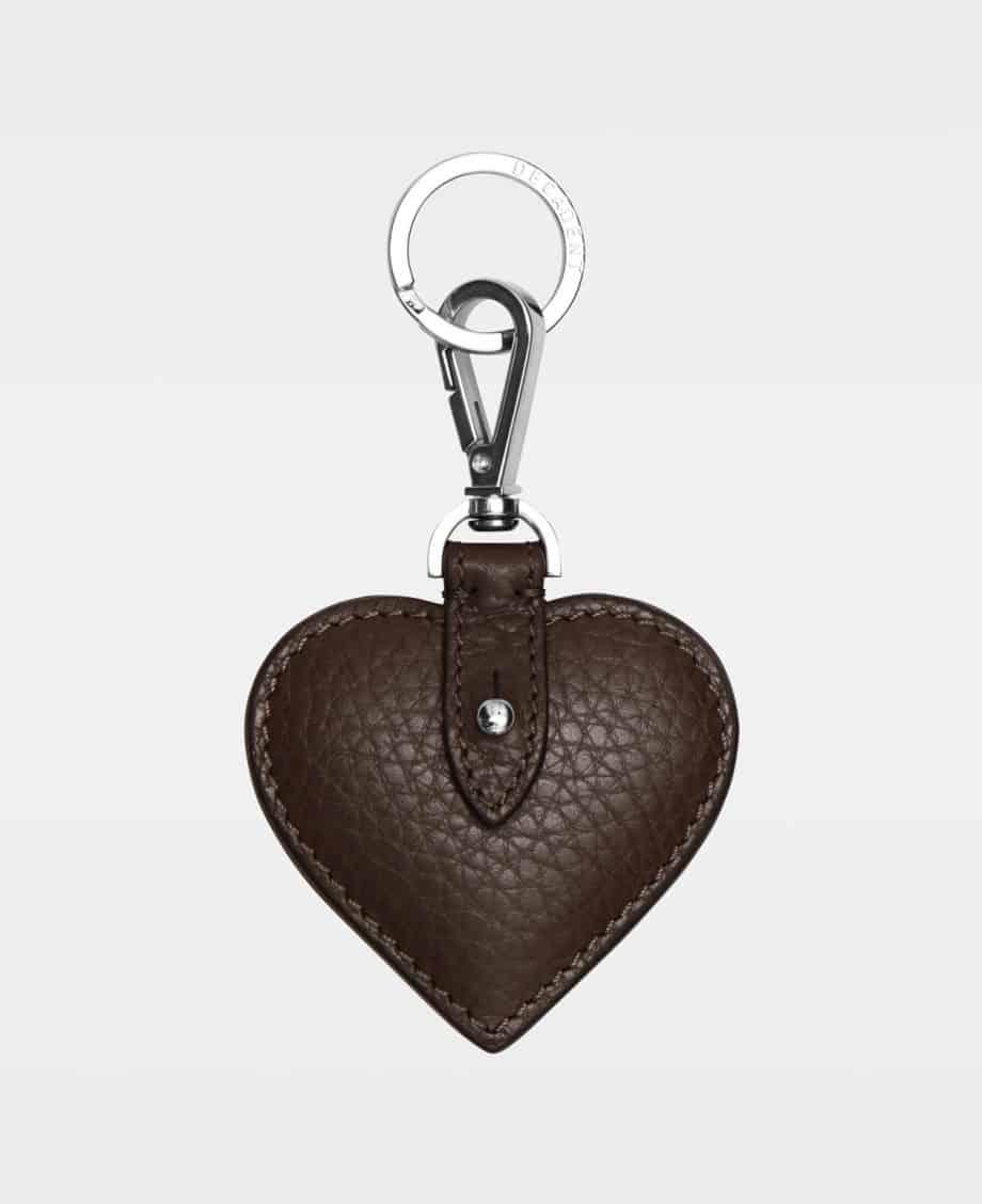 DE118 Decadent Heart Keyring Mocha Forside