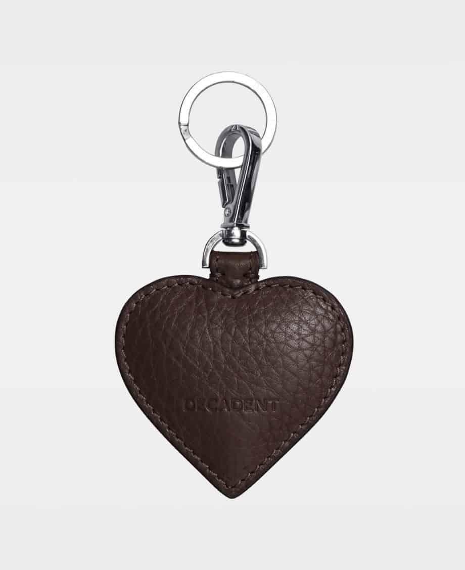 DE118 Decadent Heart Keyring Mocha Bakside