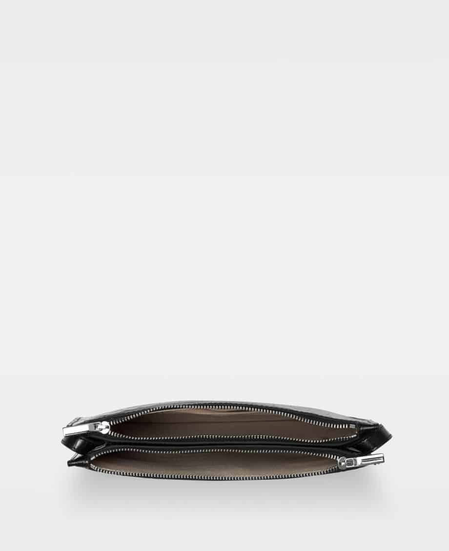 DE704 Marcia small double bag croco black Innside